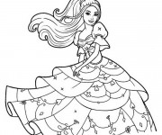 Coloriage Barbie facile
