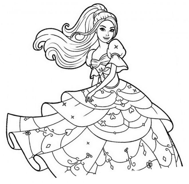 Coloriage et dessins gratuits Barbie facile à imprimer