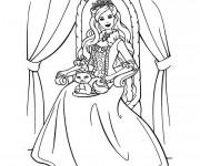 Coloriage Barbie la princesse