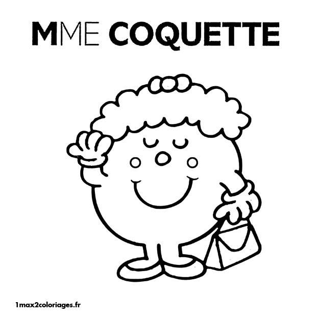 Coloriage et dessins gratuits Madame Coquette à imprimer