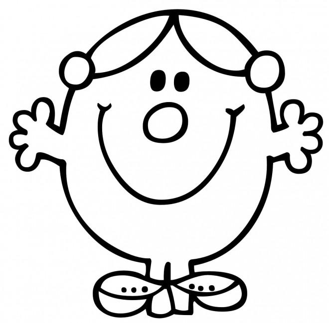Coloriage et dessins gratuits Madame Princesse souriant à imprimer