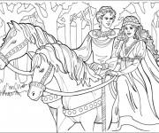 Coloriage et dessins gratuit Prince et princesse à imprimer