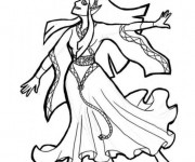 Coloriage et dessins gratuit Princesse disney étape par étape à imprimer