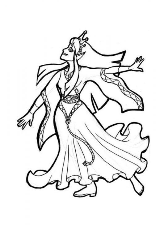 Coloriage et dessins gratuits Princesse disney étape par étape à imprimer