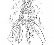 Coloriage Princesse disney facile