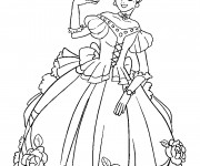 Coloriage Princesse facile