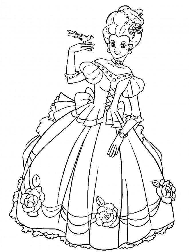 Coloriage princesse facile dessin gratuit imprimer - Dessin princesse facile ...