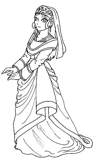 Coloriage et dessins gratuits Une Princesse disney à imprimer
