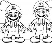 Coloriage et dessins gratuit Image Mario Bros à imprimer