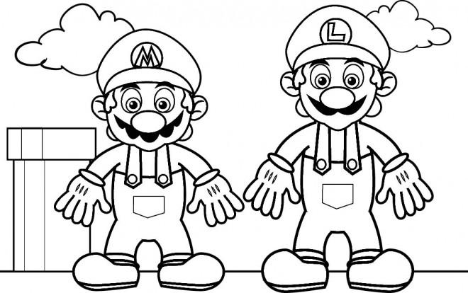 Coloriage et dessins gratuits Image Mario Bros à imprimer