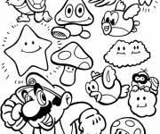 Coloriage et dessins gratuit Les personnages de Mario Bros à imprimer