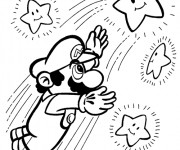 Coloriage Mario Bros en mission