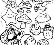 Coloriage Mario Bros personnages