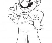 Coloriage Mario en pleine confiance
