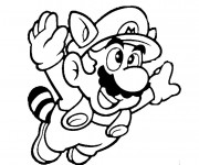 Coloriage Mario en volant