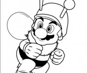 Coloriage et dessins gratuit Mario et abeille à imprimer