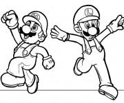 Coloriage et dessins gratuit Mario image en ligne à imprimer