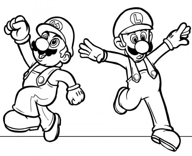 Coloriage mario image en ligne dessin gratuit imprimer - Image de dessin anime gratuit ...