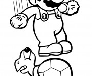 Coloriage Mario tout en sautant