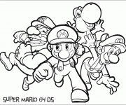 Coloriage Personnages Mario et ses amis