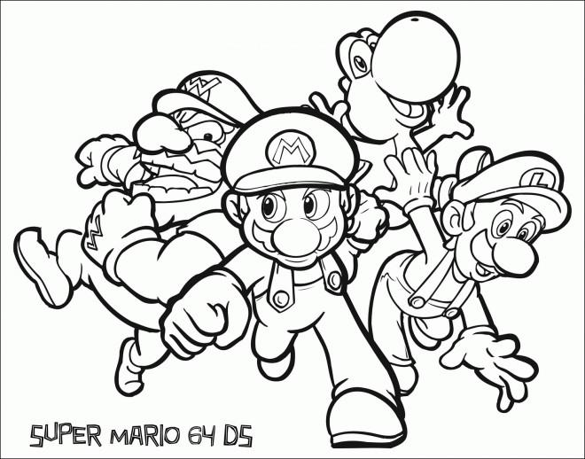 Coloriage Personnages Mario Et Ses Amis Dessin Gratuit à
