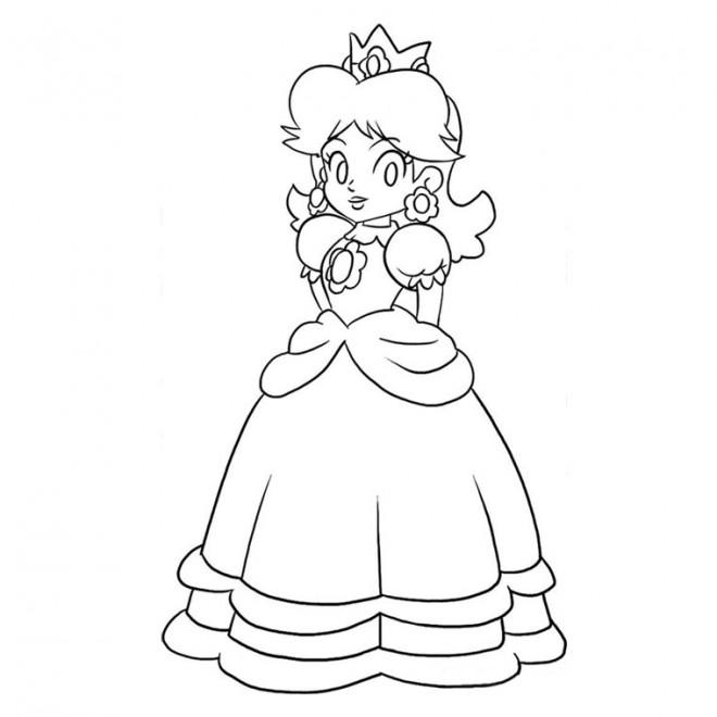 Coloriage princesse peach dessin gratuit imprimer - Comment dessiner peach ...