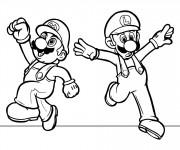 Coloriage Super Mario  facile