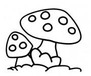 Coloriage et dessins gratuit Dessin de Champignon gratuit à imprimer
