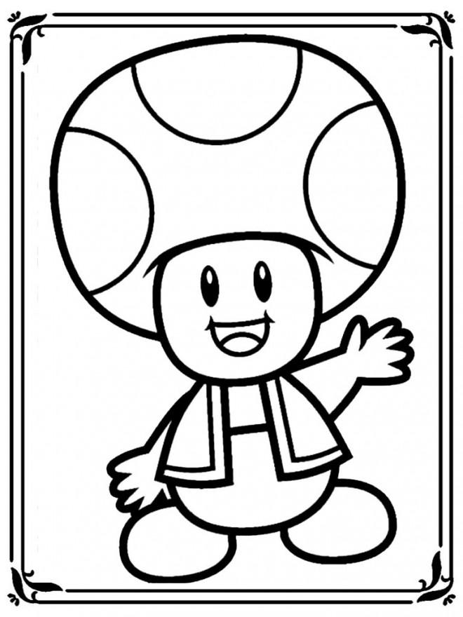 Coloriage dessin toad te salue dessin gratuit imprimer - Mario en dessin ...