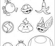 Coloriage et dessins gratuit Mario Bros personnages à imprimer