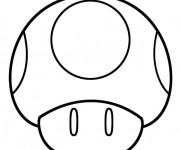 Coloriage et dessins gratuit Mario Champignon dessin animé à imprimer