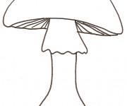 Coloriage et dessins gratuit Mario Champignon facile à imprimer