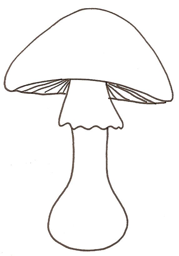 Coloriage et dessins gratuits Mario Champignon facile à imprimer