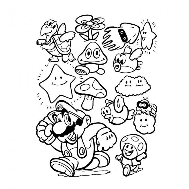 Coloriage mario et ses amis facile dessin gratuit imprimer - Dessin de sonic et ses amis ...