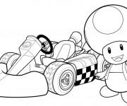 Coloriage et dessins gratuit Mario Kart 8 à imprimer