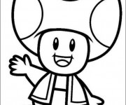 Coloriage Toad Mario dessin