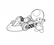 Coloriage Mario Kart 6
