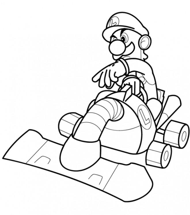 autres coloriages mario kart gratuits imprimer - Coloriage Mario Imprimer