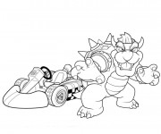 Coloriage Mario Kart Bowser