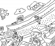 Coloriage Mario Kart Course Karting