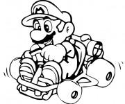 Coloriage Mario Kart en couleur