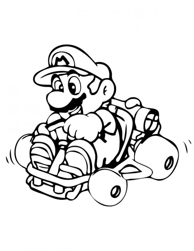 Coloriage Mario Kart En Couleur Dessin Gratuit à Imprimer