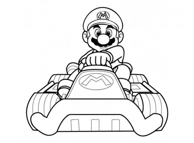 Coloriage Mario Karting Dessin Gratuit à Imprimer