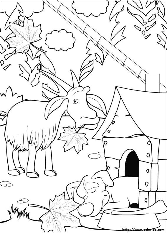 Coloriage et dessins gratuits la chèvre personnage de Masha et Mikcha à imprimer
