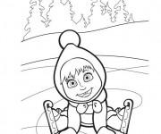 Coloriage et dessins gratuit Masha en couleur à imprimer