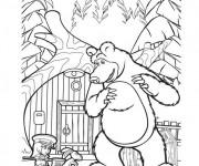 Coloriage et dessins gratuit Masha et Michka en ligne à imprimer