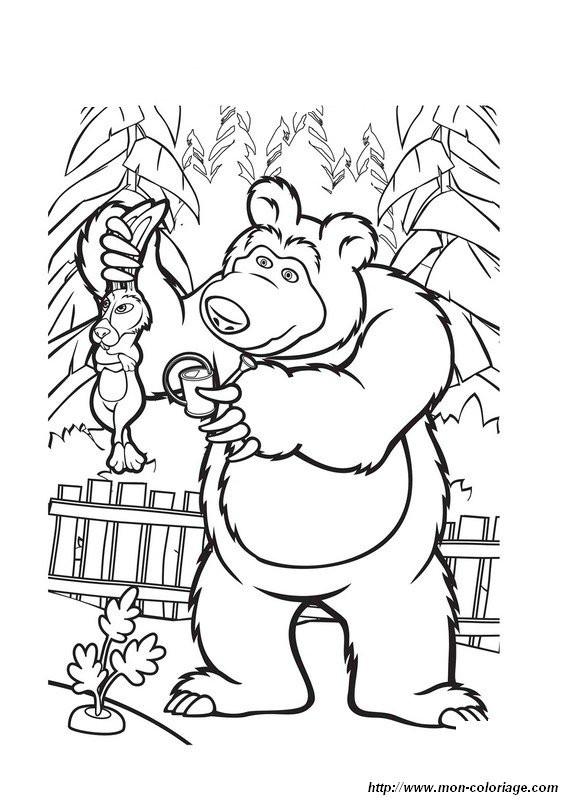 Coloriage et dessins gratuits Michka et Le lièvre à imprimer