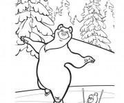Coloriage et dessins gratuit Michka tout en souriant à imprimer