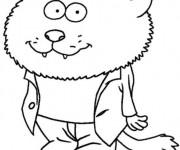 Coloriage et dessins gratuit Minijusticiers le loup à imprimer