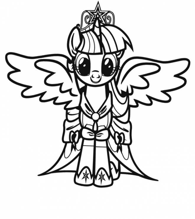 Coloriage et dessins gratuits Twilight Sparkle dans mon petit poney à imprimer